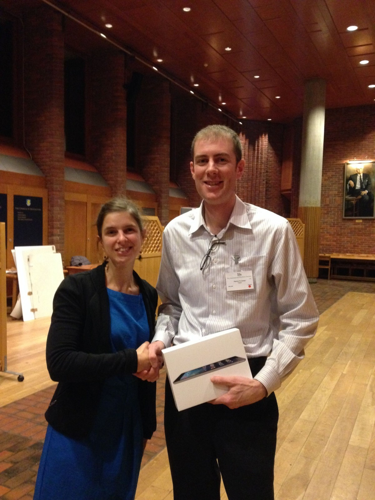 Patrick Poster Award_IFS Cambridge Dec 2014